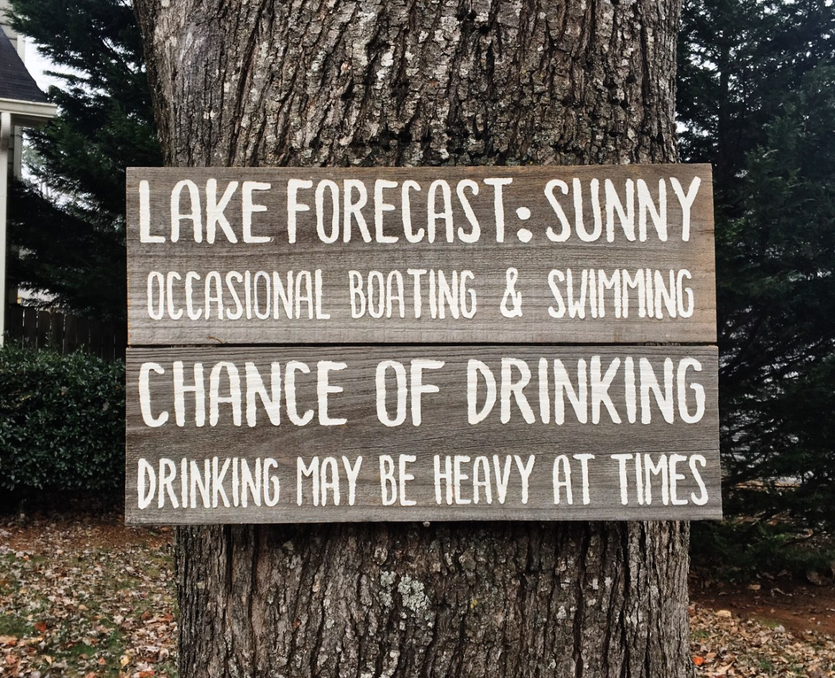 Lake forecast rustic lake house sign barnwood rust designs for House sign designs