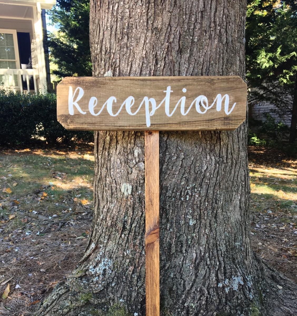 Reception Sign - Barnwood Rust Designs